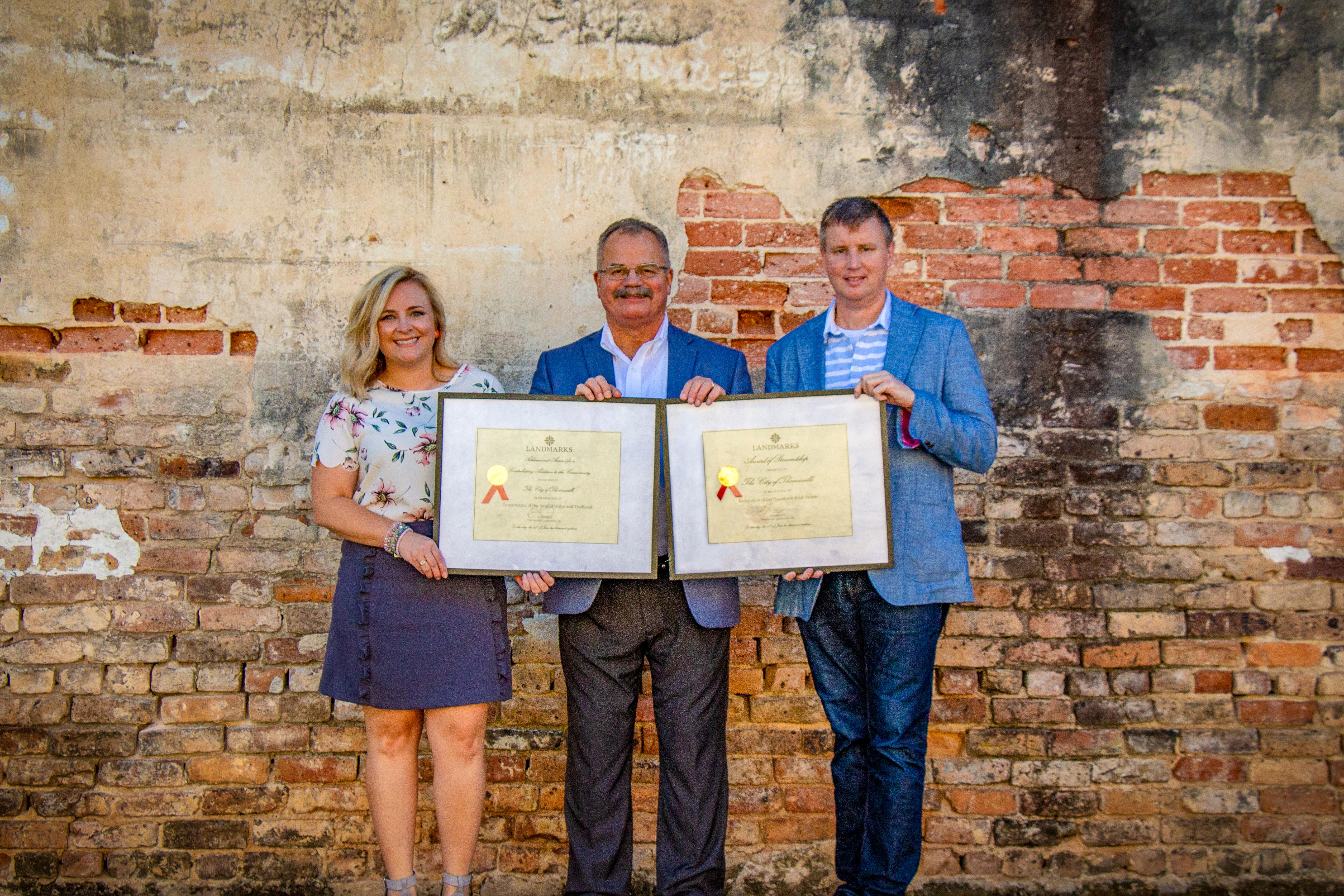 CITY RECEIVES TWO LANDMARKS AWARDS